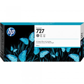 HP 727 300-ml Gray DesignJet Ink Cartridge (F9J80A)