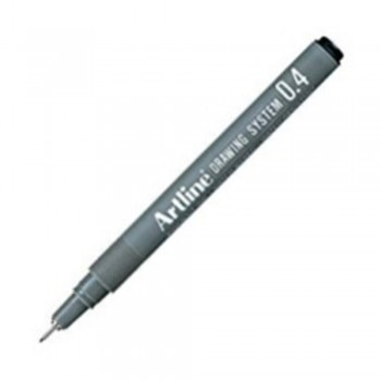 Artline Black Drawing System Pen 0.4mm (EK-234)