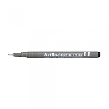 Artline Black Drawing System Pen 0.8mm (EK-238)